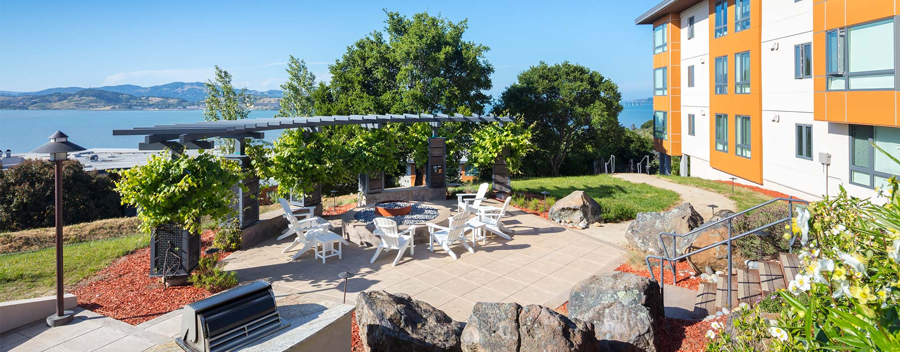 Preserve at Marin Apartment Homes - Corte Madera, CA - Outdoor BBQ and Fireplace